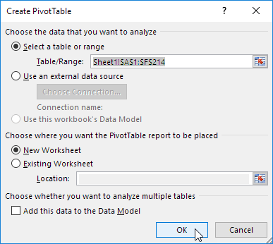 Create Pivot Table Singapore